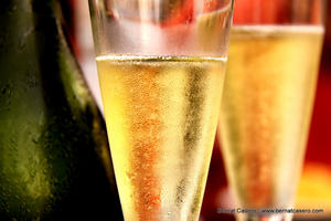we toast with cava - slowly comming