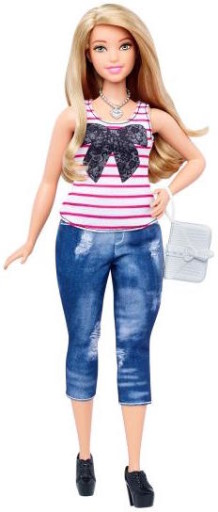 Meet Chunkybutt Barbie. If you think she's fat now, watch how she blows up when you put a ring on her.